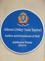 Blue Plaque Presented by The Ashburne Association, Ashburne Hall, Manchester.