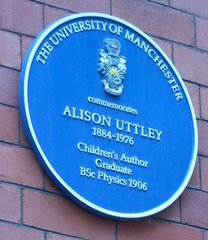 Blue Plaque Presented by The University of Manchester.